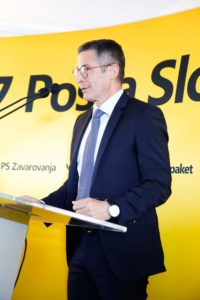 Director of Post Office at new Post Office of Slovenia office spaces - the Post Office is a partner in X5GON.