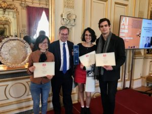 Winners of the X5GON final hackathon, British Embassy in Paris